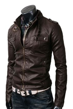Buy Online Strap Pocket Dark Brown Zipper Jacket, also Sale on Stylish Shirt Style Two Pocket Jacket at Cheapest Prices. Brown Leather Jacket Men, Brown Jacket, Leather Men, Leather Jackets, Real Leather, Classic Leather, Lambskin Leather, Stylish Shirts, Stylish Men