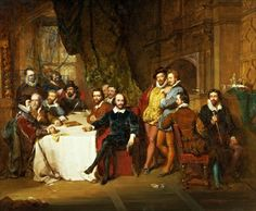 Shakespeare & Friends in the Mermaid Tavern, by John Faed in 1850.