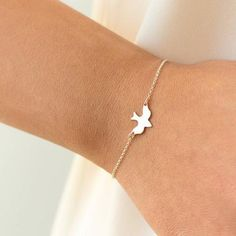 Tiny Peace Dove Little Cute Bracelet