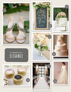 A little bit of modern mixed with some romance makes for one amazing wedding theme. | Modern Elegance Wedding Inspiration @myweddingfavors