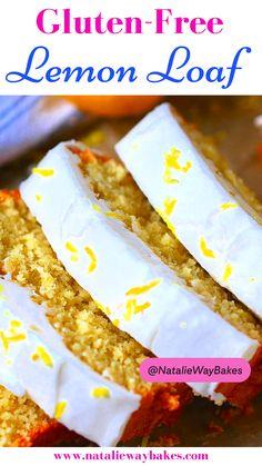 Gluten Free Lemon Cake, Gluten Free Desserts, Fun Desserts, Gluten Free Recipes, Awesome Desserts, Lemon Glaze Recipe, Lemon Loaf, Dessert Bread, Foods With Gluten