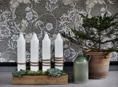 adventsljusstake 2016 Winter Christmas, Christmas Crafts, Christmas Decorations, Xmas, Scandinavian Christmas, Handmade Home, Candlesticks, Candle Sconces, Flower Power