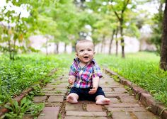 Not sure how I feel about the Guido unbuttoned shirt look, but the comp with the path pulling you into the photo is great 6 Month Photography, Toddler Photography, Love Photography, Newborn Photography, Baby Boy Photos, Newborn Photos, Baby Pictures, 6 Month Baby Picture Ideas, Baby Clothes Storage