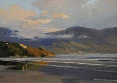 """Alexandre Reider - 'Vista de Ilhabela"""", óleo s/tela, 18x24cm, 2010"""