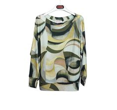 #DIESSE #FallWinter2016/17 #Blouse featuring bat long sleeves, boat neck, geometric print #designer #DiegoSalerno  http://www.diessefashion.it/