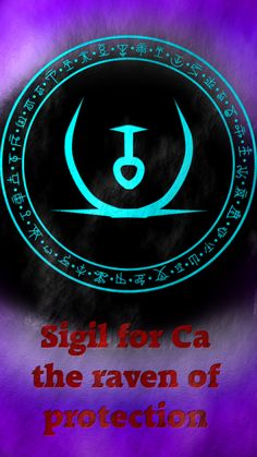 Sigil for Ca the raven of protection This is one of the Ravens of antimony: wolfofantimonyocc. Raven Of Protection: Wiccan Spell Book, Wiccan Spells, Magic Spells, Witch Symbols, Magic Symbols, Alchemy Symbols, Viking Symbols, Egyptian Symbols, Viking Runes
