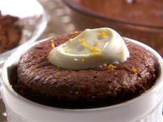 Chocolate Sponge Puddings recipe from Melissa d'Arabian via Food Network