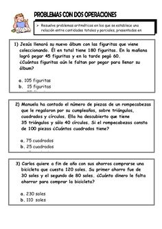 AQUÍ TIENES 6 FICHAS de matemáticas con diferentes tipos de ...