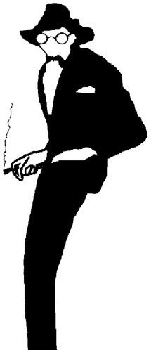 Silueta del escritor, pintor y político gallego, Castelao. Rianxo,enero 1886- Buenos Aires enero1950. Desarrolló la mayor parte de su carrera literaria en lengua gallega y destacó como dibujante y caricaturista reflejando la sociedad y la política de aquellos tiempos.