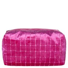 A stylish velvet large box toiletry bag, using the the contemporary velvet small scale tile pattern of Leighton in bright fuchsia pink. This luxurious box toiletry bag is finished with a waterproof lining and interior pocket. Large Toiletry Bag, Designers Guild, Luxury Home Decor, Small Boxes, Tile Patterns, Linen Bedding, Interior Design, Fabric, Pink