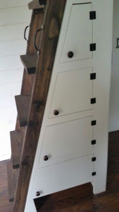 compact staircase - ladder with storage for tiny housese Dennis Baxa Tiny House on Wheels via TinyHouseTalk-com 006