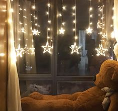 Twinkle Star 12 Stars 138 LED Curtain String Lights, Window Curtain Lights with 8 Flashing Modes Decoration for Christmas, Wedding, Party, Home Decorations (Warm White) Lantern String Lights, Hanging Lanterns, Plastic Curtains, Window Curtains, Led Curtain Lights, New Years Decorations, Christmas Decorations, Living Room Windows, Curtain Designs