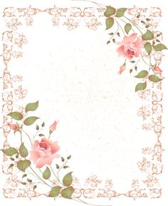 marco,Rahmen,cadre,frame,tube,png,quadro - lacy pink frame with pink rose corner accents