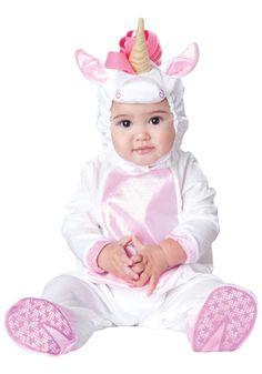 Infant Magical Unicorn costume...cute, except it kinda looks like the unicorn ate the baby.