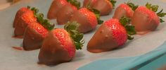 Vegan Chocolate Covered Strawberries no added sugar low sugar gluten free healthy recipe low calorie dessert Christy Brissette registered dietitian nutritionist 80 Twenty Nutrition