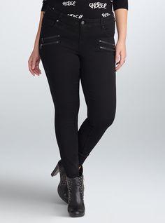 51fca32dd79 Rebel Wilson for Torrid Multi Zip Skinny Jeans  68.50