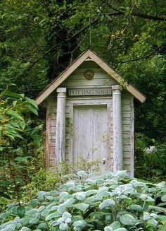 unique garden shed from reclaimed materials