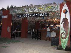 Soggy Peso - San Carlos, Mexico... great micheladas, crab tostadas, right on the beach