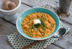 Indiai babfőzelék Menu Planning, Nom Nom, Curry, Favorite Recipes, Ethnic Recipes, Food, Mint, Turmeric, Curries