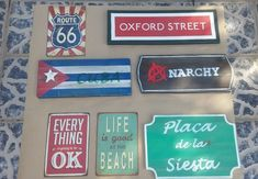 **7Wooden Metal Fabric Sign Collection**Man Cave Decor Rustic Style Bar Hipsters #Handmade #AntiqueStyle