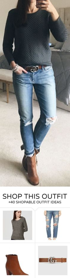 #winter #fashion / Dark Knit / Ripped Skinny Jeans / Brown Leather Booties