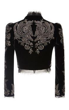 Embroidered Cropped Jacket by Roberto Cavalli Gypsy Fashion, Love Fashion, Autumn Fashion, Fashion Outfits, Womens Fashion, Beautiful Outfits, Cool Outfits, Beautiful Life, Fashion Details