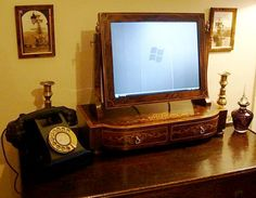 wood screen for computer monitor - Google Search