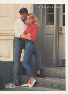 1984 Jordache Jeans 80s Fashion Advertisement by fromjanet on Etsy, $7.00