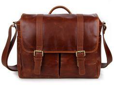 Brown Leather Messenger Bag