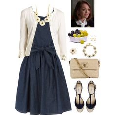 Emma Pillsbury Black-Eyed Susan, created by lilbailey on Polyvore