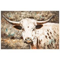 Watercolor Cow Canvas Wall Art - hobby lobby