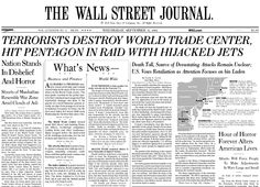 A look at the Journal's original #September11 coverage from the Sept. 12, 2001 edition: http://on.wsj.com/YzSZK8 pic.twitter.com/hAIh29jEex