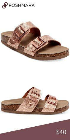 Madden Girl Brando Sandal Madden Girl Brando Sandal in beautiful Rose Gold. These are thee most comfortable sandals. I LOVE it. TTS! New with no box! Madden Girl Shoes Sandals