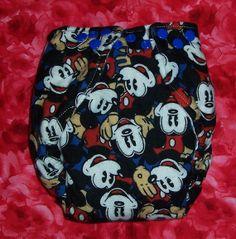 Custom Made Cloth DiaperMickey Mouse Cloth Diaper by loschiquitos