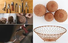 Aesthetics of Everyday Life :: Wire weaving and design, kanaami-tsuji : Kyoto