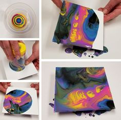 Learn a new budget friendly way to do DIY Paint Pouring! This is one of the most popular and trending craft projects, and it's great for kids. Kids Painting Projects, Canvas Art Projects, Painting For Kids, Diy Painting, Craft Projects, Preschool Projects, Preschool Art, Diy Crafts Videos, Craft Tutorials