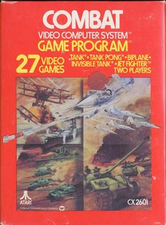 Combat - The starter game that come free with the 2600 console.  Boy was this game a bore, but it was the first game you got to play since it came with the Atari 2600 gaming system.  Talk about basic even for 1982, T.