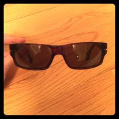 Persol brown tortoise sunglasses Persol brown tortoise sunglasses. Handmade in Italy. Wraparound style. Great for activities and sports. Persol Accessories Sunglasses