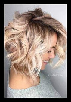 15 Trendy Hairstyles For Long Faces | Layered wavy bob, Wavy bobs ... | WomanAdvise - WOMANADVISE.COM