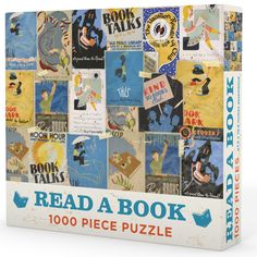 Filled with posters and iconography that proclaims the love of books that has endured through time. Measures x when fully assembled. Book Club Books, Book 1, Books To Read, My Books, Wpa Posters, Gifts For Readers, Book Lovers Gifts, 500 Piece Puzzles, Creative Gifts