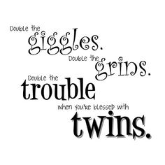 i love my twins quotes | Old Word Art Site
