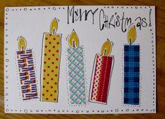 Weihnachtskarten mit Washi Tape (Christmas Card with Washi Tape) voisi tehdä myös kankaanpaloista?
