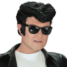 Adult+Greaser+Sideburns+Costume+Wig+