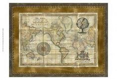 Antique World Map - 874