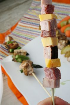 Cheese & Meat Skewer!