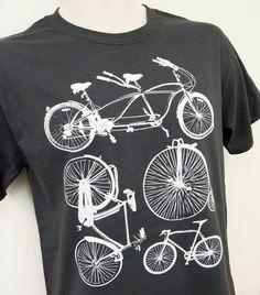 Bike Shirt  Bicycle Collection Mens Unisex GREY by theboldbanana, $14.00