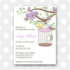 Printable Baby Shower Invitation  Lavender by inglishdigidesign, $10.00