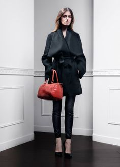 Fall-Winter 2013 | Lookbook | #AnneFontaine #MODERNPARISIAN #FW13 Coat MAYANA Pants MADEN Bag GABY PEARL