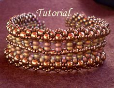 Tutorial Pillar Bracelet by Ellad2 on Etsy