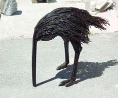 ostrich.jpg - Sculpture,  50x90x100 cm ©2015 par Rade Mutapovic -                                                            Réalisme, Métal, Animaux, ostrich, sculpture, metal, animal